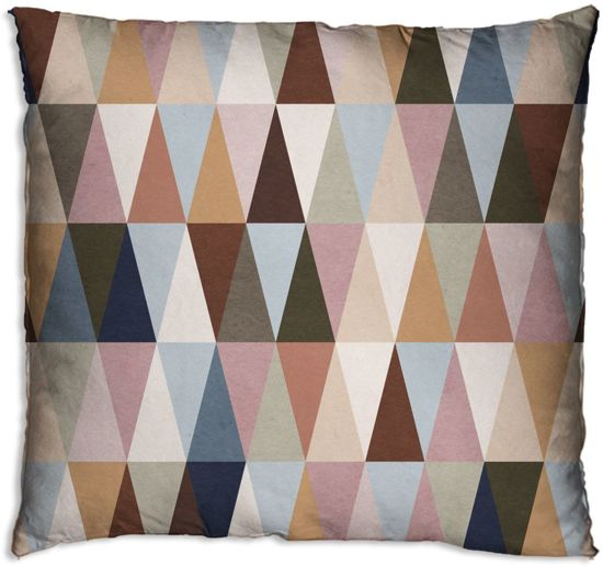 Sierkussens Met Plaid.Woonexpress Driehoekjes Sierkussen 60x60 Cm Multicolour