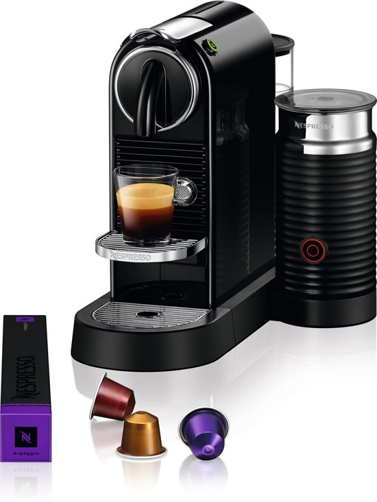 nespresso magimix citiz milk m195 koffiemachine limousine black. Black Bedroom Furniture Sets. Home Design Ideas