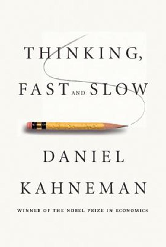 Boek cover Thinking, Fast and Slow van Daniel Kahneman (Hardcover)