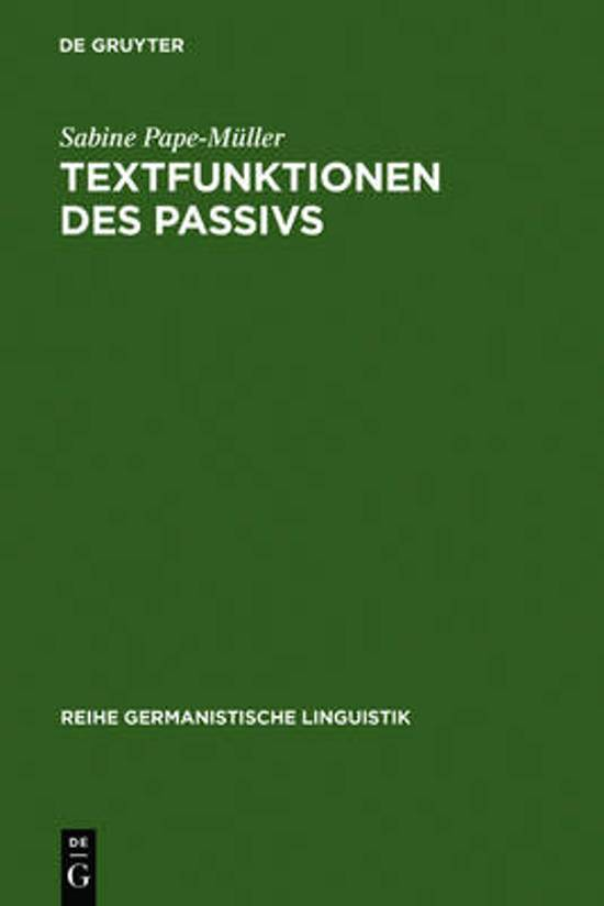 Textfunktionen Des Passivs