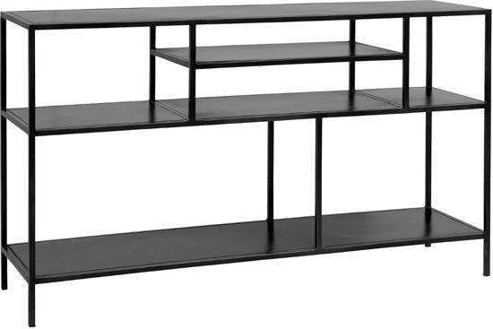 Zwarte Stellingkast Metaal.Nordal Stellingkast Display Metaal Zwart 74 X 130 X 35
