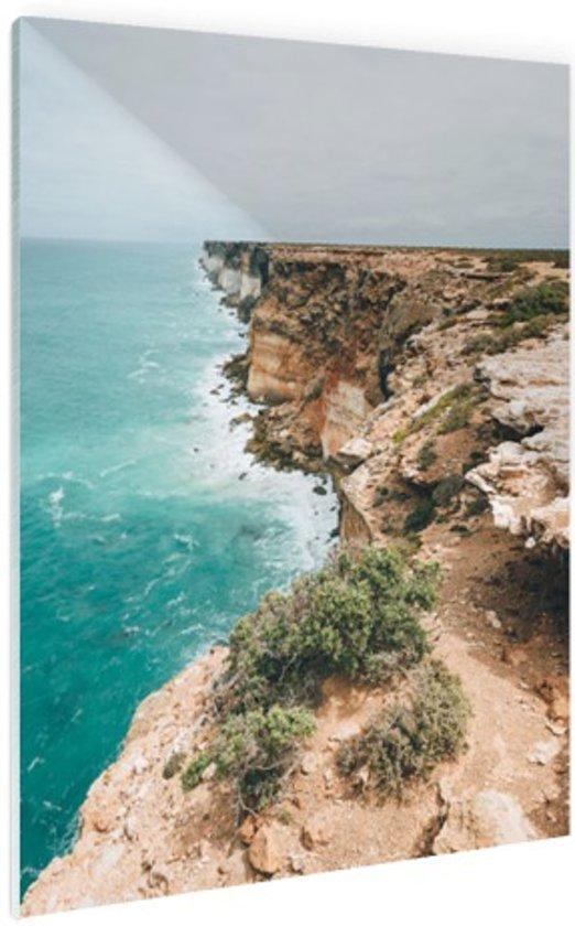 Nullabor kliffen Australie Glas 80x120 cm - Foto print op Glas (Plexiglas wanddecoratie)