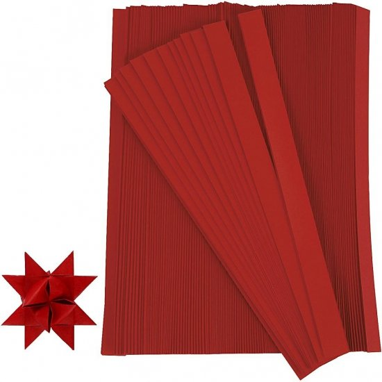 Papieren stroken rood 500 stuks