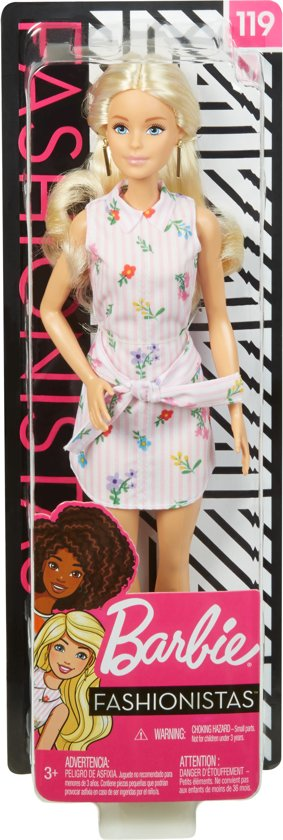 Barbie Fashionistas Met Lang Blond Haar - Barbiepop