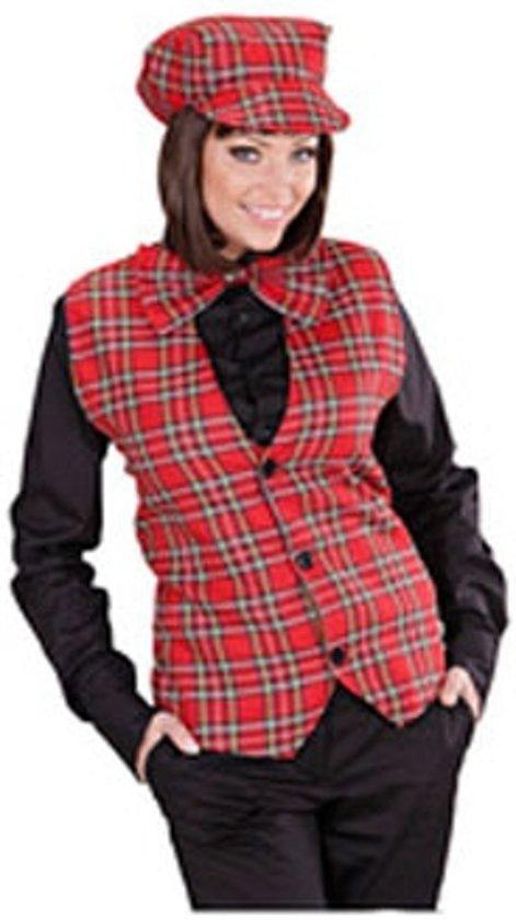 Tartan gilet voor dames met Schotse ruit Xl