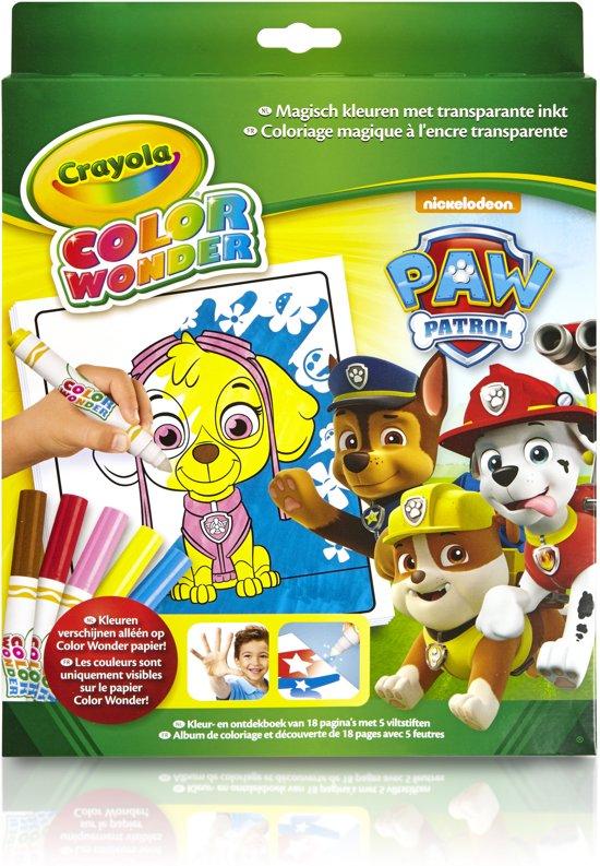 Color Wonder Box set Paw Patrol - Kleurboek incl. 5 Stiften
