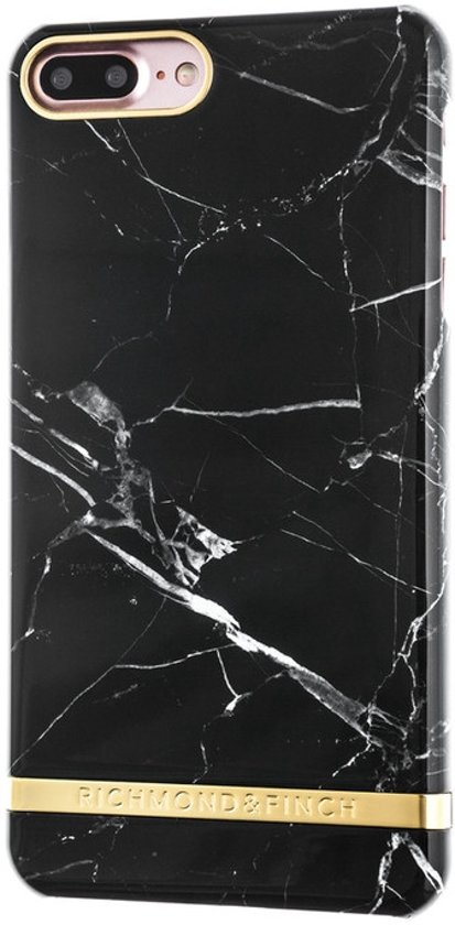 Richmond & Finch Marble Glossy iPhone 7 Plus Black in Boesingheliede