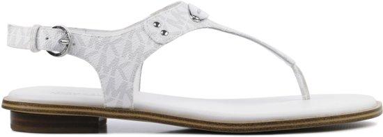 149ed0881db bol.com | Michael Kors Dames Sandalen Mk Plate Thong - Wit - Maat 39