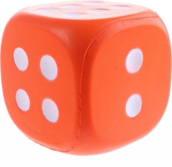 Afbeelding van het spel Johntoy Dobbelsteen Eva Foam 12 Cm Oranje