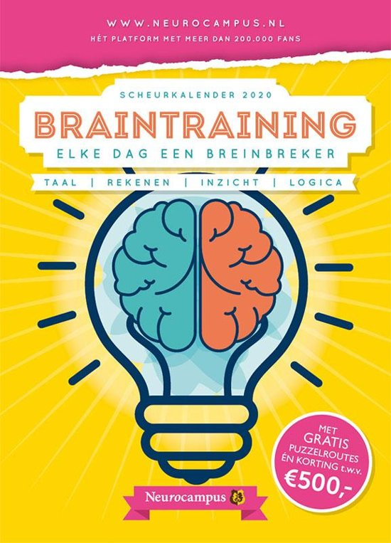 Neurocampus braintraining scheurkalender 2020