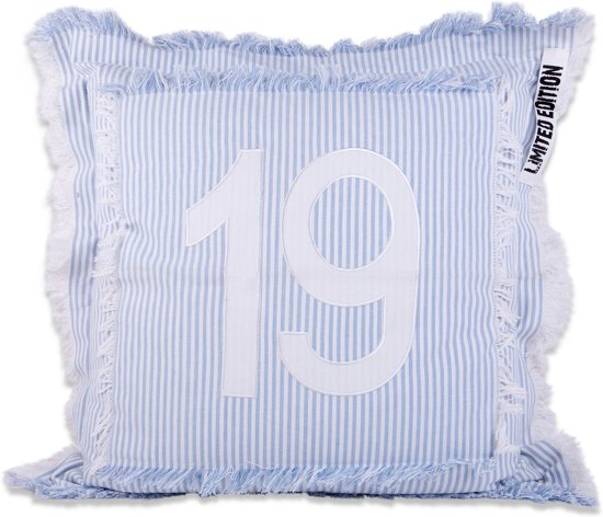 In The Mood 19 - Sierkussen - 50x50 cm - Hemelsblauw