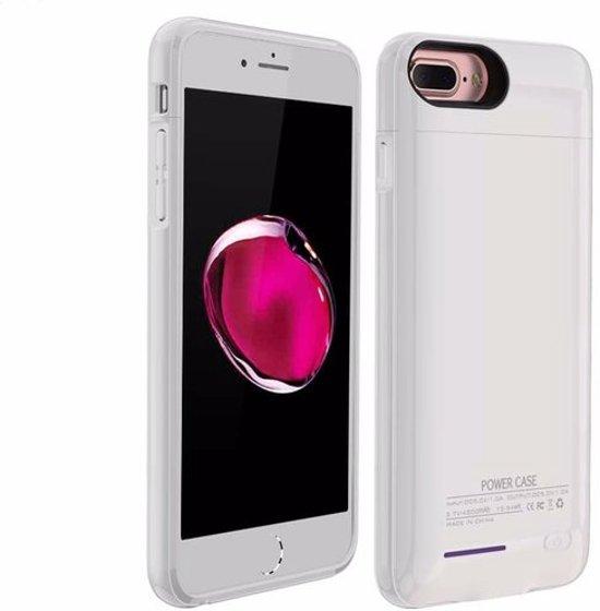 Wit smart batterij hoesje / battery case met stand functie voor Apple iPhone 6 / 6s en Apple iPhone 7
