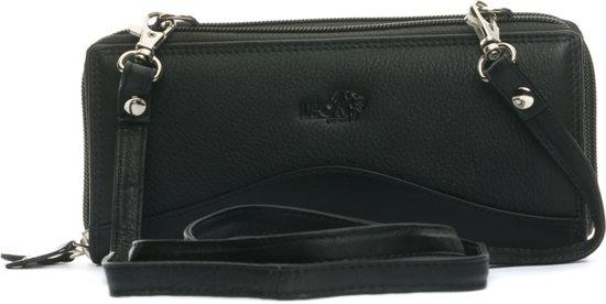 96353b7808d LeonDesign - 16-W405-04 - zwart - dames - portemonnee - met schouderband