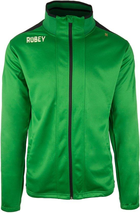 Robey Trainingsjack - Voetbaljas - Green/Black - Maat 140