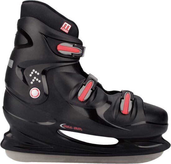 Nijdam 0099 IJshockeyschaats XXL - Hardboot - Zwart - Maat 47