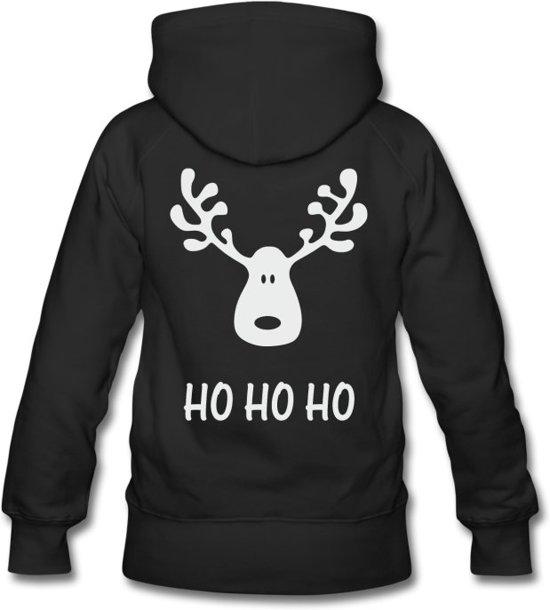 Kersttrui Dames Katoen.Bol Com Hippe Kersttrui Ho Ho Ho Voor Dames Hooded Sweater Black