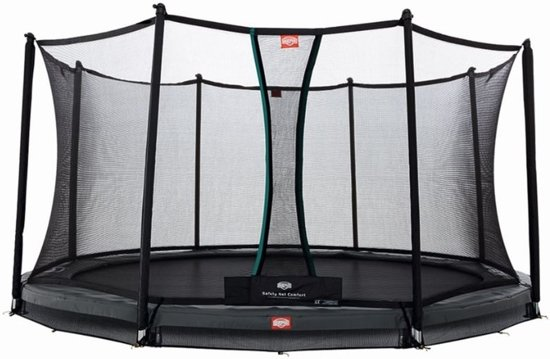 BERG InGround Champion 430 grijs + Safety Net Comfort 430