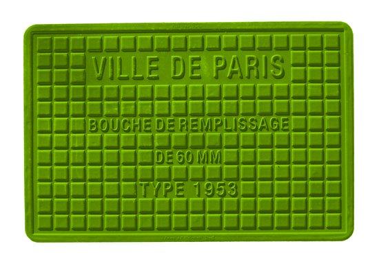 Mepra Streetcover Placemat Pont Neuf Parijs 30 x 45 cm - Olijfgroen