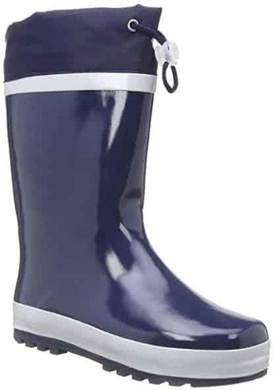 Playshoes Regenlaarzen met trekkoord Kinderen - Donkerblauw - Maat 20-21