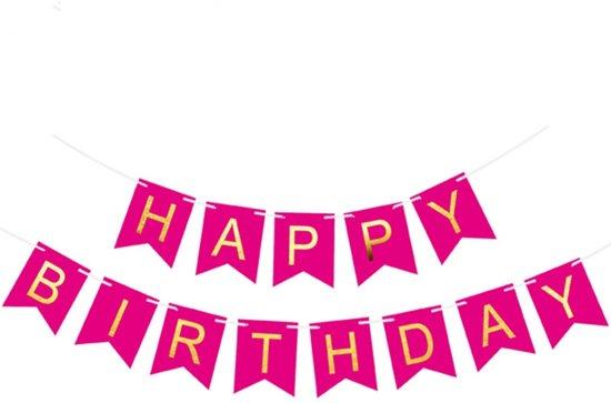 Bol Com Happy Birthday Slinger Verjaardag Donkerroze Ranido