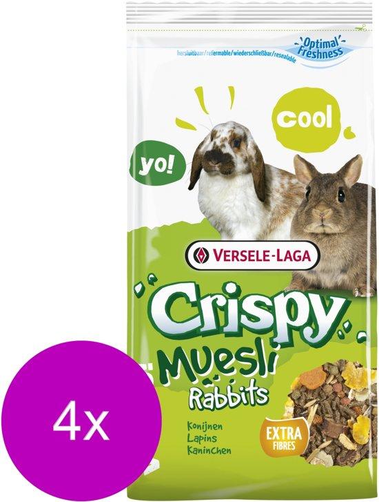 Versele-Laga Crispy Muesli Konijnen - Konijnenvoer - 4 x 1 kg