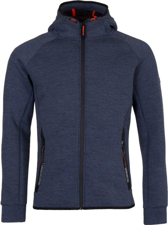 997160fb9ec Superdry Orange Label Cotton Sporttrui - Maat L - Mannen - donker blauw /zwart/