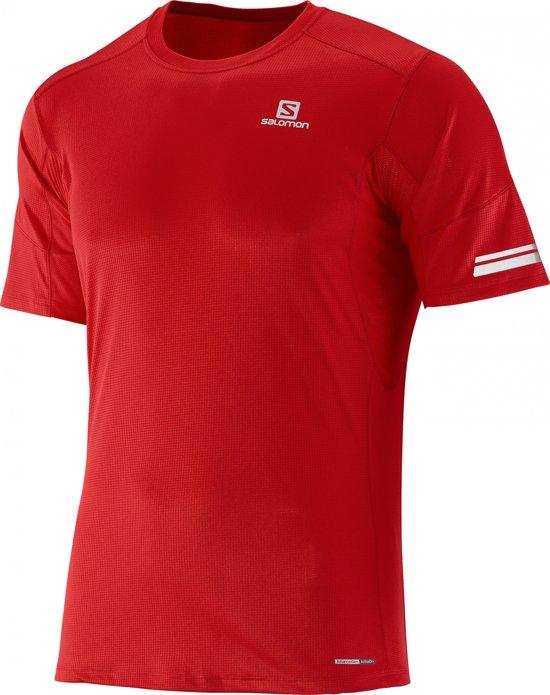 364b0bbd8df bol.com | Salomon Agile t-shirt Heren rood Maat M
