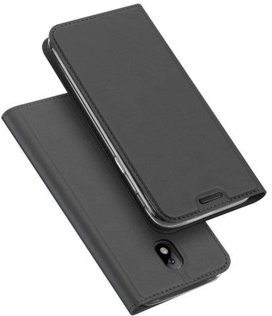 Samsung Galaxy J5 (2017)  Hoesje Grijs met Luxe Uitstraling in Groesbeek