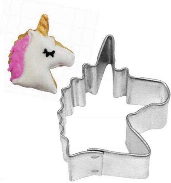 Uitsteekvorm eenhoorn hoofd - Uitsteker fantasie dier voor koekjes