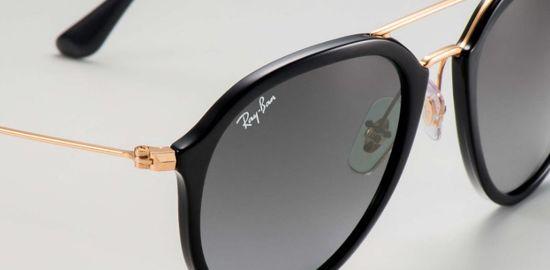 fe482860e43f7 bol.com   Ray-Ban RB4253 601 71 - zonnebril - Zwart-Goud   Grijs ...
