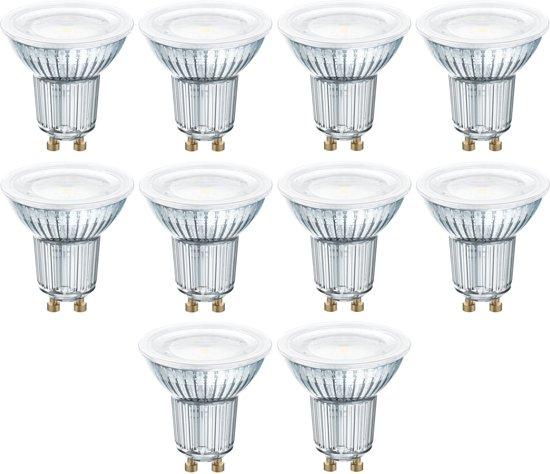10 stuks - Osram LED GU10 4.3W 2700K 120D 350lm