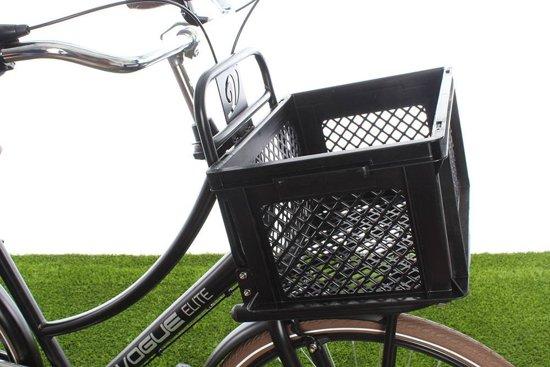 Fietskrat Kunststof Zwart M - prima krat voor opvallend lage prijs