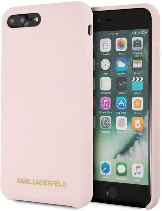 "Karl Lagerfeld Silicone Case - Apple iPhone 8 Plus (5.5"") - Roségoud"