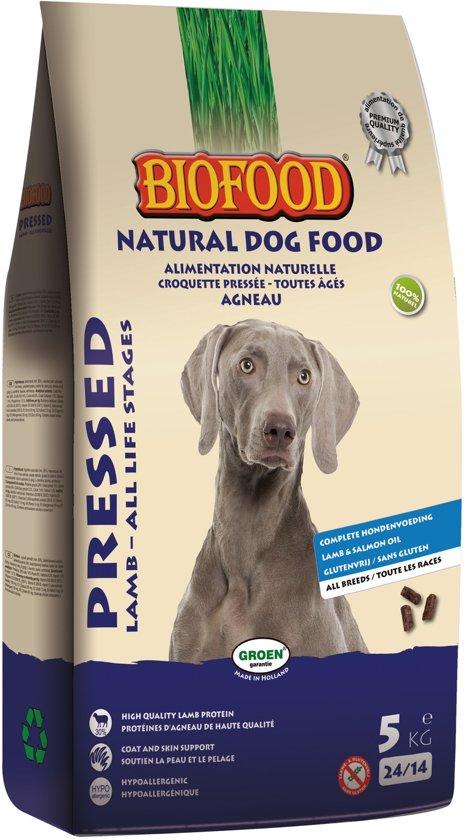Biofood geperst lam / rijst premium hondenvoer 5 kg