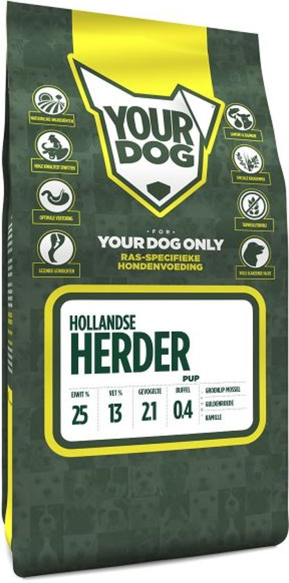 Yourdog hollandse herder hondenvoer pup 3 kg