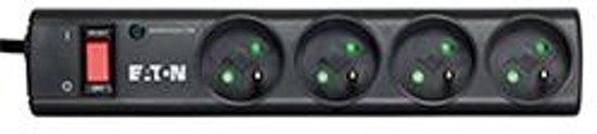 Eaton Protection Strip 4 FR (DIN) Overspanningsbeveiliging 4 AC-uitgang(en) Zwart