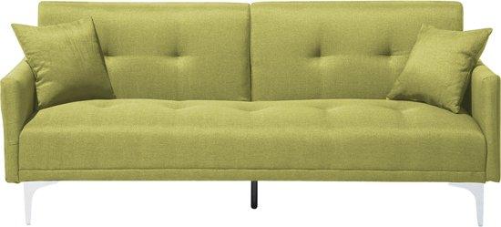Slaapbank groen - bedbank - bank - sofa - slaapsofa - klapbank - LUCAN