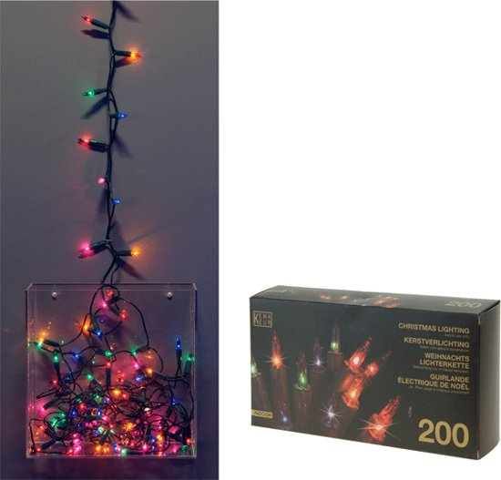 Bol Com Kerstverlichting Mini Gekleurd Binnen 200 Lampjes