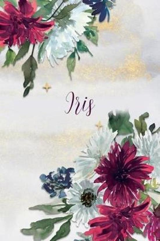 Isis: Personalized Journal Gift Idea for Women (Burgundy and White Mums)