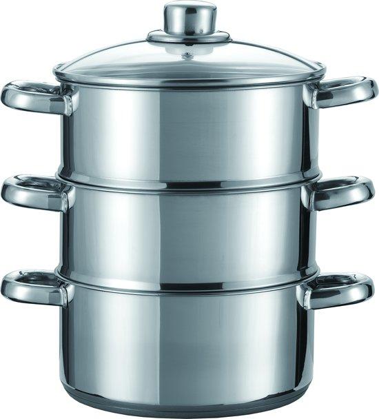 Imperial Kitchen Stoompan - 20 cm - 3 delig - 21 x 26cm Valentinaa