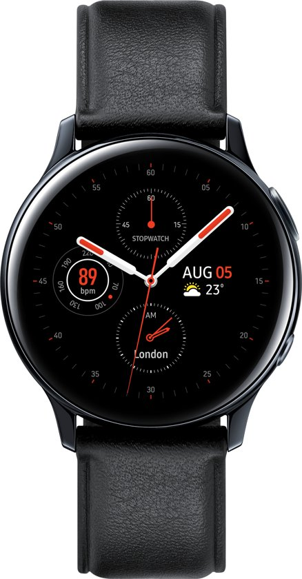 Samsung Galaxy Watch Active2 - Stainless steel - 40mm - Zwart