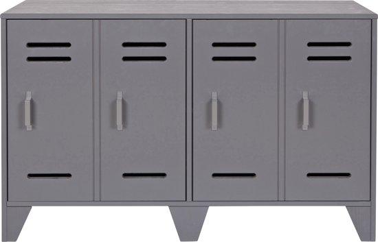 WOOOD Stijn Laag Lockerkastje - Steel Grey - 65x103x40