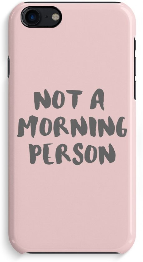 iPhone 7 Volledig Geprint Hoesje - Morning person