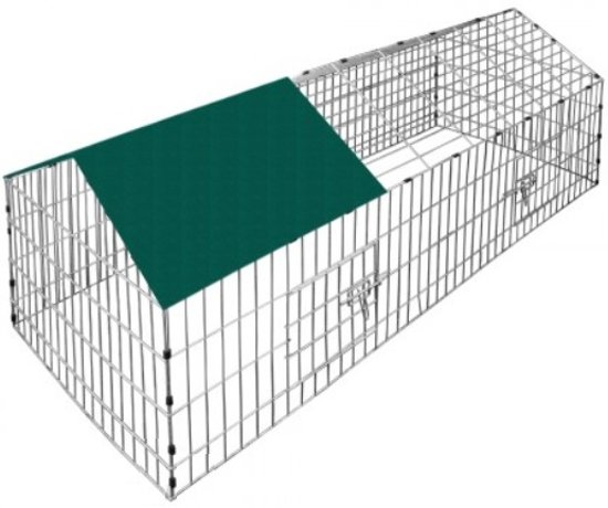Monzana Konijnenhok Groen - 180x75cm