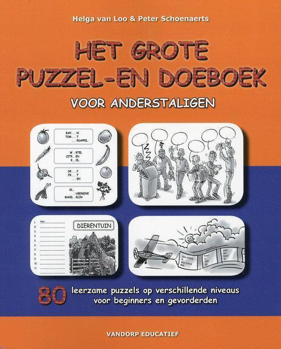 Boek cover Het grote puzzel- en doeboek voor anderstaligen van Helga van Loo (Hardcover)