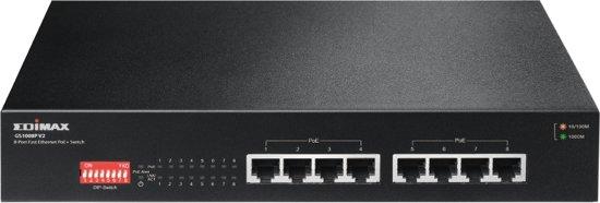Edimax GS-1008P V2 netwerk-switch Gigabit Ethernet (10/100/1000) Zwart Power over Ethernet (PoE)