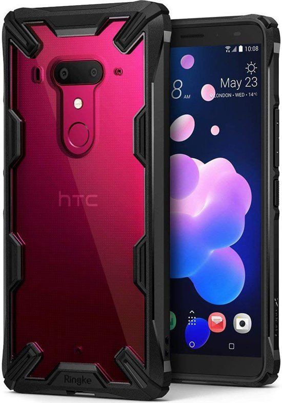Ringke Fusion X HTC U12 Plus Hoesje Doorzichtig Black