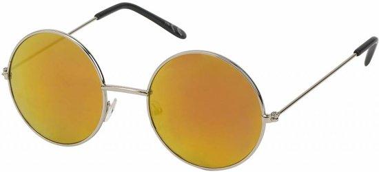 Hippie boho bohemian ronde geel oranje glazen zonnebril voor de zomer festival - UV400