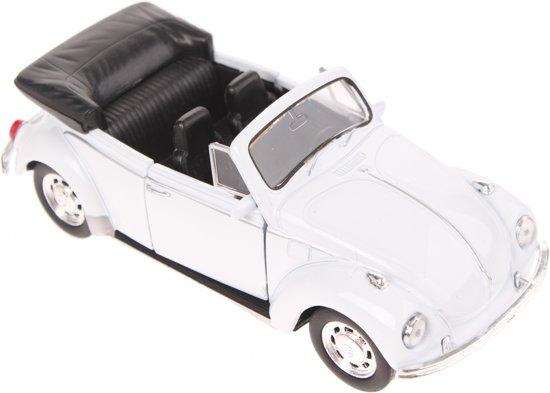 Welly Schaalmodel Volkswagen Beetle Cabrio Wit