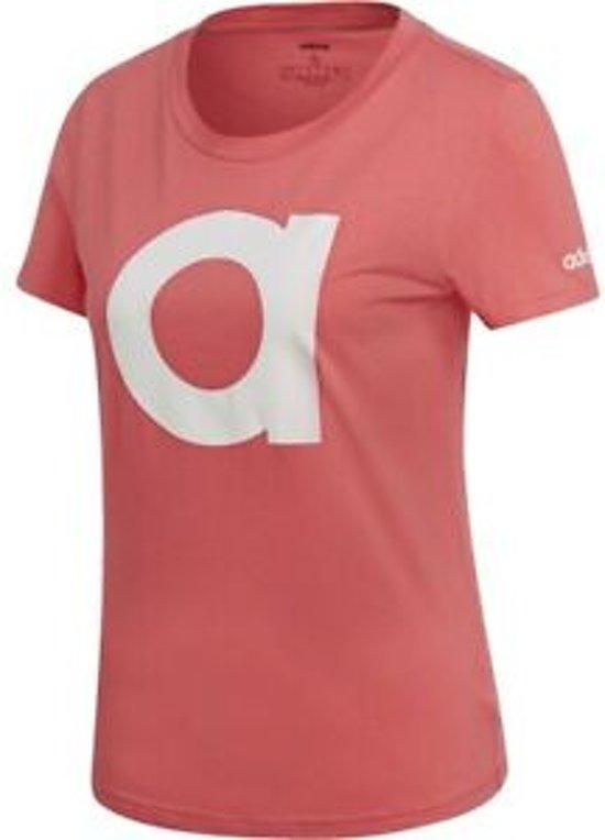 Adidas T Shirt Brand Tee RozeWit maat XS